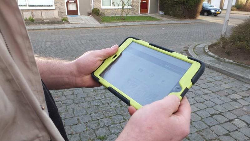 Digitale werkbon op de iPad