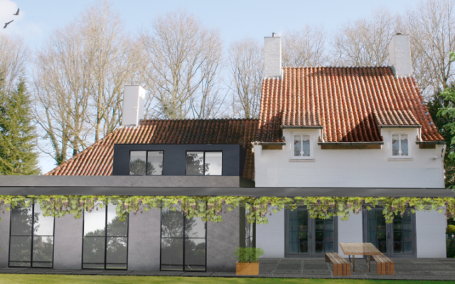 Verbouwing renovatie villa aan de breautelaan in vught groenen