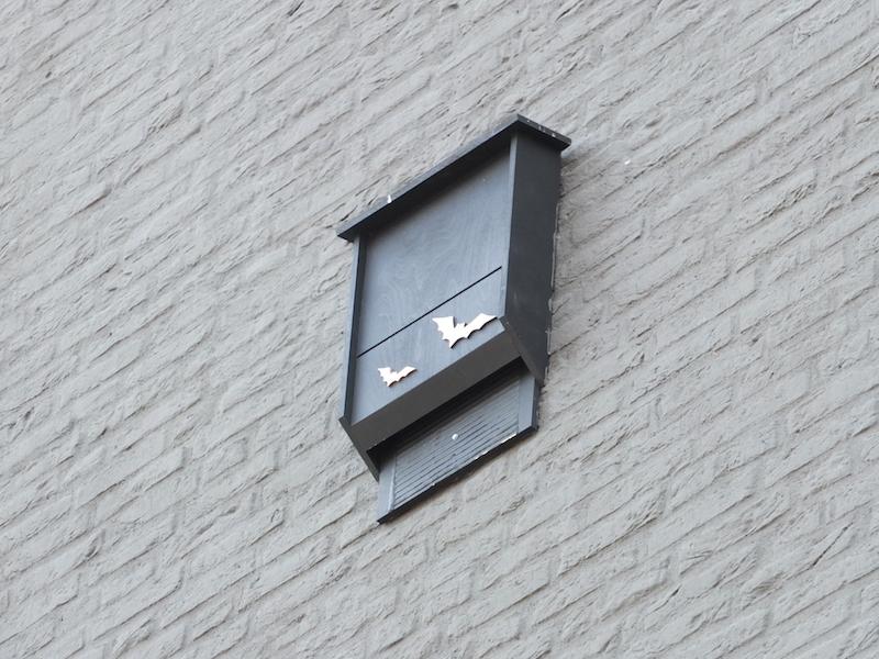 Vleermuiskast aan muur Kasteeltraverse